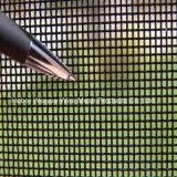 Порошковое покрытие черного цвета SUS304 Bullet доказательства на экране окна