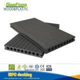 Decking de madera al aire libre hueco impermeable del plástico WPC