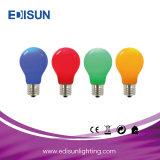 Una caliente60 6W E27 de la luz de lámpara de luz LED de colores