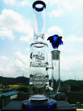 Hb-K48 Honeycomb mit Two Half Ball Perc Windmill Wheel Shape Glass Smoking Water Pipe