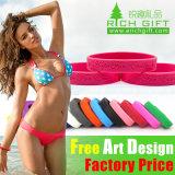 Gravé en relief/Impression/épais en silicone personnalisé Bracelet Bangle
