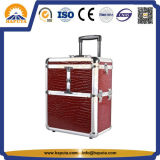 Aluminium Rolling Travel Beauty Makeup Train Case (HB-3209)