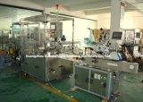Farmacéutica automática Máquina Tapadora de llenado de líquido con la línea de etiquetado