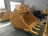 50トンの掘削機の石の骨組バケツの謎のバケツ