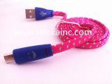 Eco-Friendly 플라스틱 자동차 USB 케이블을%s 가진 미소 마스크 빛 USB 케이블