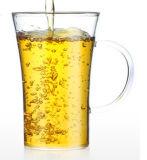 Cuvette de thé sans plomb en verre de Borosilicate avec le traitement