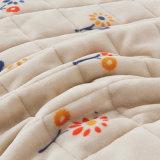 Couvre-lit de literie de chambre à coucher de vérification piqué par tradition de luxe de la Nouvelle Angleterre