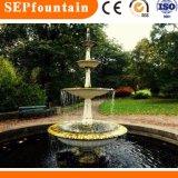 Scultura di marmo di pietra che intaglia la fontana di acqua