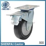 5 Inch Rubber Fixed Caster Wheel für Schwer-Aufgabe