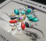 De AcrylSticker van Bindi van de Juwelen van het Lichaam van de Schoonheid van het Festival van het Gezicht van het Kristal van de Juwelen van de Gemmen van de Meermin van de Gemmen van het gezicht (S030)