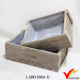 Organisateur de table French French Farm Recycled Reclaimed Wood Tray