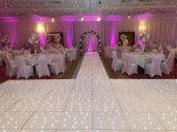 16X16FT panneau blanc avec LED blanches pour fête de mariage decoration