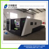 2000W fibras metálicas proteção total CNC corte a laser 3015