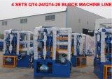 O Qt4-24 Linha máquina para fazer blocos de comando manual