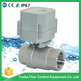 Valvola motorizzata NSF-61-G approvato dell'acqua dell'acciaio inossidabile di 2 modi