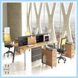 디자인 멜라민 최고 백색 사무실 나무로 되는 직원 테이블
