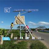 luz de rua solar da bateria de lítio de 12m