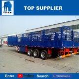 Titan-Fahrzeug - 3 Wellen-Zaun-Typ Flachbettsattelschlepper 60 Tonne für Verkauf