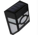 Lâmpada ao ar livre do corredor da luz de rua da potência solar de 2 diodos emissores de luz com luz branca morna