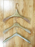 Ganchos com Logo, Clothes Hanger com Flocking Shoulders, Suit Hanger, Wooden Hanger