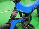 ضوء - زرقاء/برتقاليّ كهربائيّة يطوي درّاجة مع [شته] شكل تصميم