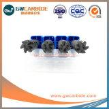 1.0X3X50HRC45固体ドリル6のフルートの平らな炭化物の端製造所