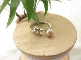Конструкции латунных кец перлы пинка ювелирных изделий белого золота покрынные для женщин