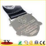Medalha encantador com logótipo em relevo a medalha de metal personalizada com fita