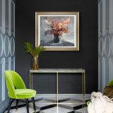 壁の芸術のためのハンドメイドの組み立てられた現代花の油絵