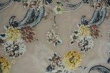 Neues Druck-Samt-Gewebe der Blumen-2016