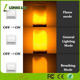 Bulbo justo de la llama del color LED del fuego de la naturaleza de la bombilla del bulbo 1800K E26 E12 5W LED de la llama de la emulación que oscila LED