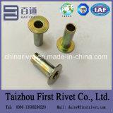 rebite tubular cheio principal liso chapeado zinco de 8X20mm