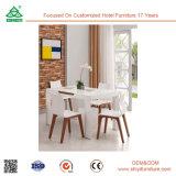 Peças de madeira da cadeira do quarto de Dianing do Excelente-Desempenho, jogos ambientais da mobília da sala de jantar da tabela