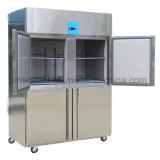 Restaurante Frost-Free equipamento de cozinha industrial congelador com 4 meias portas