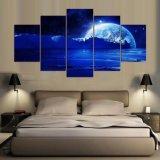 5 het Schilderen van Comités HD het Planetarische Canvas van de Kunst van de Decoratie van de Muur van de Woonkamer van het Beeld van de Kunst Hoofd