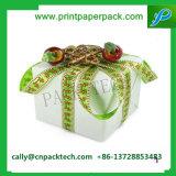 서류상 선물 포장 상자가 리본에 의하여 시니 경기를 한다