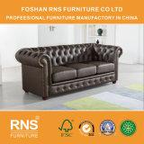 Sofá A01 de la oficina del sofá del cuero de la combinación del diseño de Chesterfield