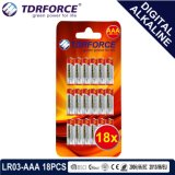 Pile alcaline libre de Digitals de fournisseur de Mercury&Cadmium Chine (LR03-AAA 18PCS)
