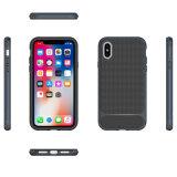 iPhone x аргументы за сотового телефона магнитного панцыря волокна углерода кольца абсорбциы ротатабельного передвижное