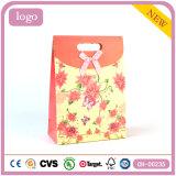 Желтые цветы моды арт бумага с покрытием подарок бумажных мешков для пыли
