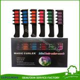 Mini crayons personnels remplaçables neufs de professionnel de peigne de teinture de cheveu d'utilisation de salon de la liste 6PCS/Set