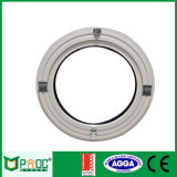 Guichet rond circulaire en aluminium avec la double glace
