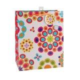Colorir o saco de papel do presente do ornamento da roupa de forma do teste padrão de PONTO da polca