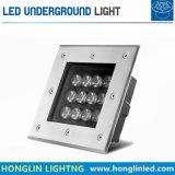 LED 지하 빛 9W12W 정연한 IP65 옥외 정원 점화 220V LED에 의하여 매장되는 램프