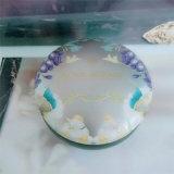 Vela de Fragranced en rectángulo decorativo del estaño con insignia modificada para requisitos particulares