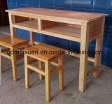 Estudante de sólidos de madeira mesas e cadeiras mesas e cadeiras de madeira aos alunos um conjunto (M-X3213)