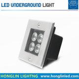 Lámpara enterrada LED al aire libre cuadrada subterráneo de la iluminación 220V del jardín IP65 de la luz 4W del LED