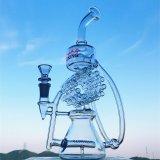 인라인 로켓 여과자 얼음은 똑바른 유리제 연기가 나는 수관을 압축한다