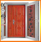 Porte en bois en acier de degré de sécurité de double grille de qualité