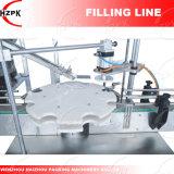 Taponadora giratorio+4 Jefes de llenado de líquido/Líquido Máquina de Llenado de China